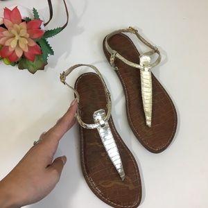 Sam Edelman metallic gold Gigi sandals